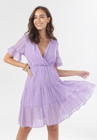 Fioletowa Sukienka Heligina