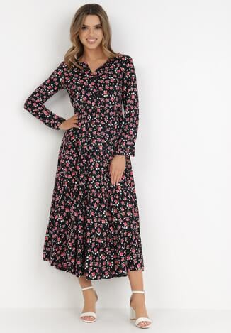 Granatowa Sukienka Iphiserris