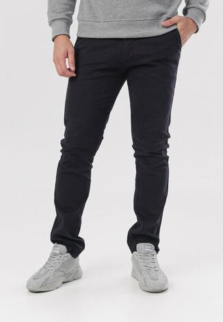 Granatowe Spodnie Amyssa