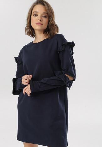 Granatowa Sukienka Fyserora