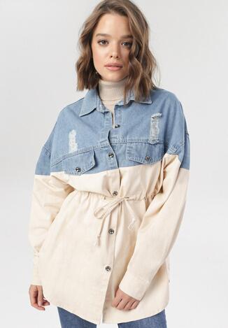 Beżowa Koszula Wierzchnia Doriefa