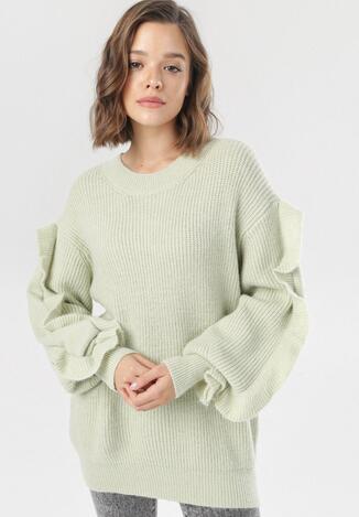 Jasnozielony Sweter Eshiraya
