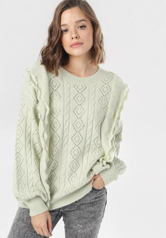 Jasnozielony Sweter Daemlyn