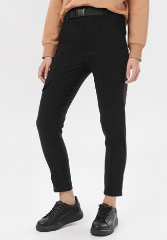 Czarne Spodnie Penania