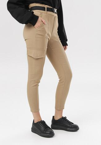 Beżowe Spodnie Penania