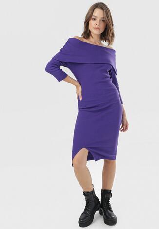 Fioletowa Sukienka Morael