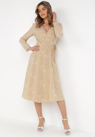 Beżowa Sukienka Lilnara