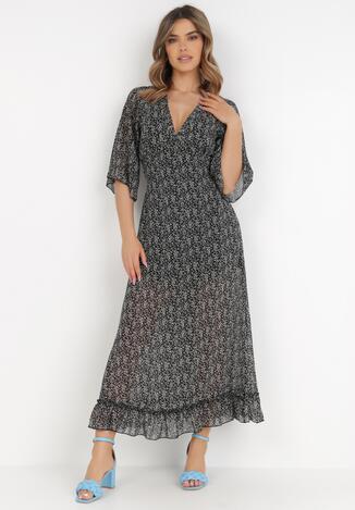 Czarno-Biała Sukienka Kryness