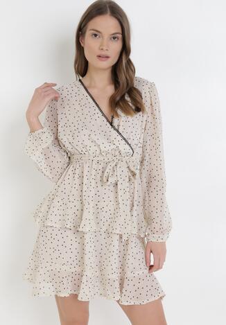 Jasnobeżowa Sukienka Daemaris
