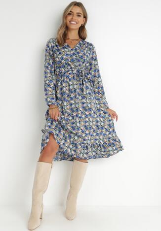 Granatowa Sukienka Brizolle