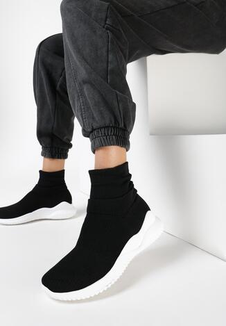 Czarne Sneakersy Elrinnara