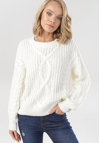 Biały Sweter Valeriana