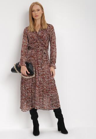 Brązowa Sukienka Ethemea