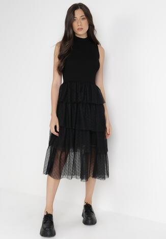 Czarna Sukienka Sararin