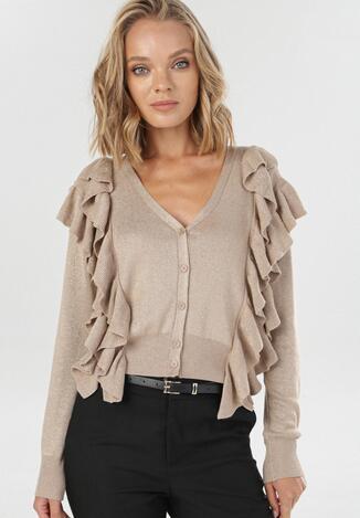 Beżowy Sweter Xyrroris
