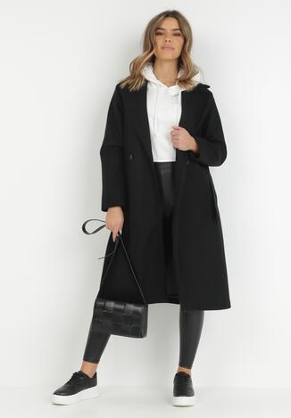 Czarny Płaszcz Isirira