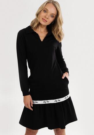 Czarna Sukienka Krynlienne