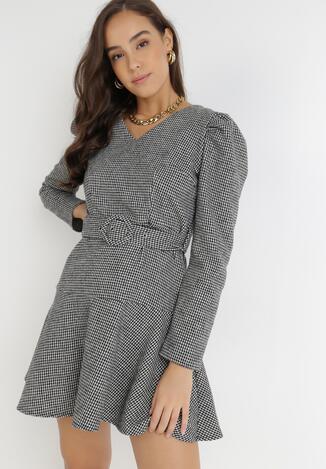 Czarno-Biała Sukienka Kyltila