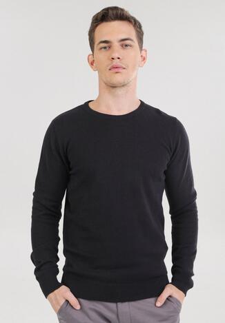 Czarny Sweter Cahrtia
