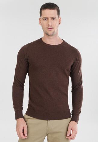Brązowy Sweter Cahrtia