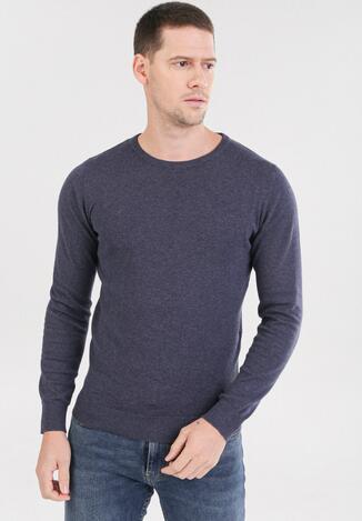 Granatowy Sweter Cahrtia