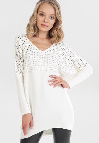 Biały Sweter Thelryna