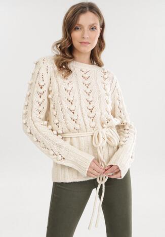 Kremowy Sweter Jilyra