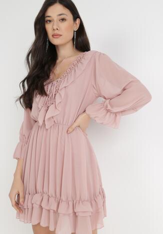 Różowa Sukienka Catsea
