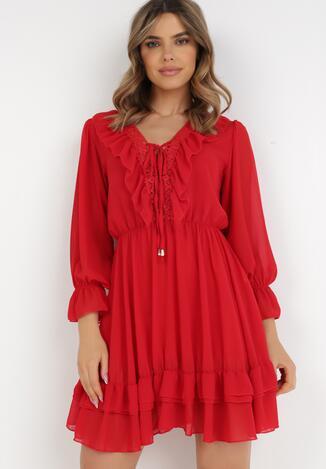 Czerwona Sukienka Catsea