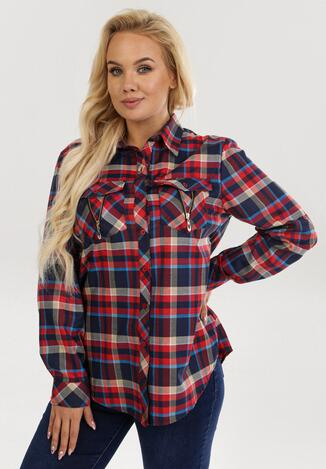 Czerwono-Beżowa Koszula Yservienne