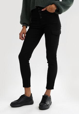 Czarne Spodnie High Waist Zaehrelle