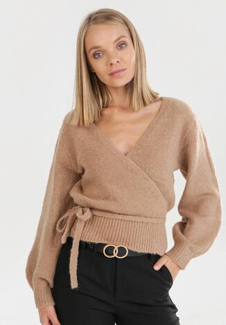 Ciemnobeżowy Sweter Wylineth