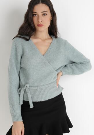 Miętowy Sweter Wylineth