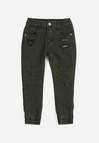 Zielone Spodnie Joggery Lilinlyn