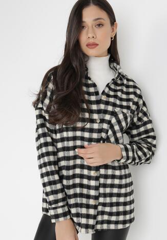 Czarno-Biała Koszula Nymvyn
