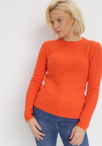 Pomarańczowy Sweter Helidia