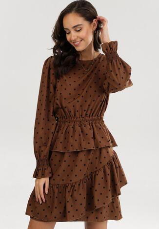 Brązowa Sukienka Adomine