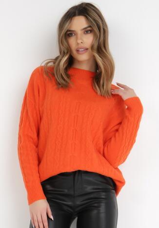 Pomarańczowy Sweter Arieda