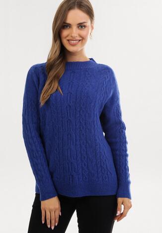 Granatowy Sweter Arieda