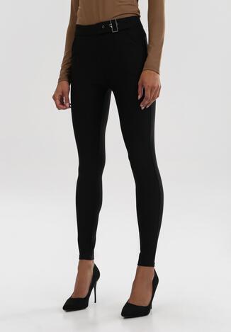 Czarne Spodnie Skinny Farhunter