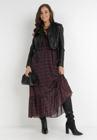 Czarno-Czerwona Sukienka Ravenkeep