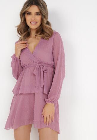 Ciemnoróżowa Sukienka Sharpblaze
