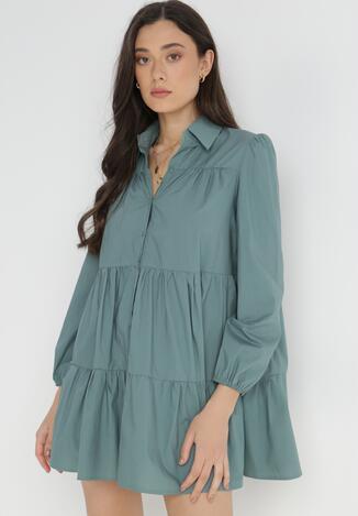 Niebieska Sukienka Hellgem