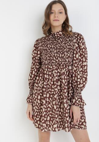 Brązowa Sukienka Shimmerfrost