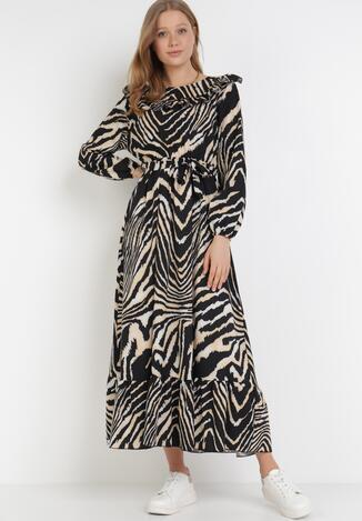 Czarno-Beżowa Sukienka Gloomdrifter