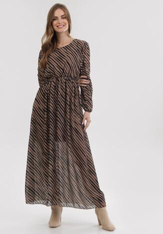Ciemnobeżowa Sukienka Hillrun