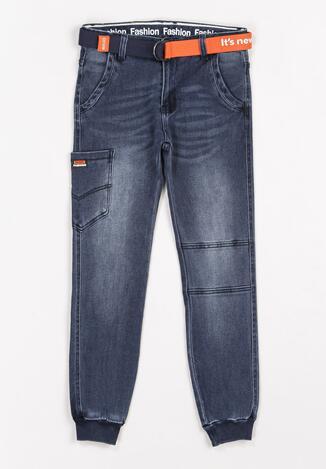 Granatowe Spodnie Fluttermoon