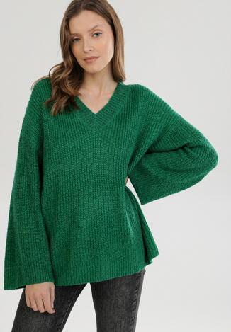 Zielony Sweter Z Wełną Fancyflash