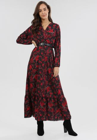 Czarno-Czerwona Sukienka Uanlan