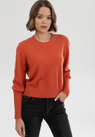 Pomarańczowy Sweter Zaurg